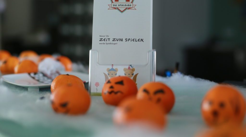 Halloweendekoration Mandarinen